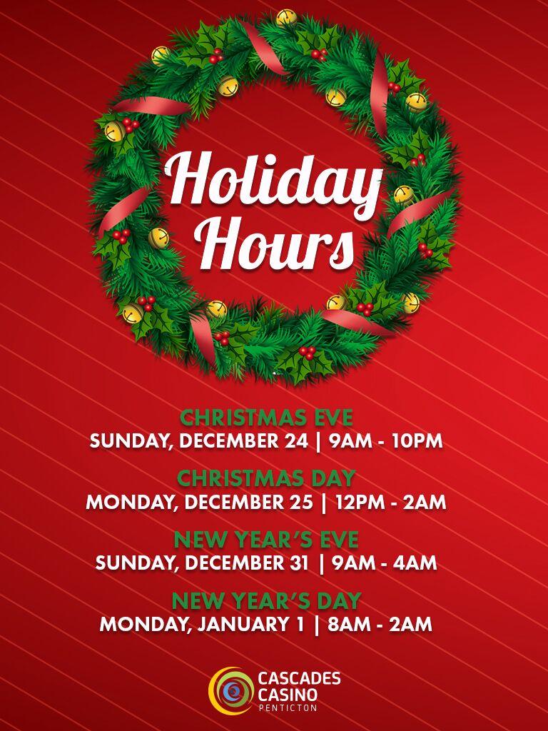 Christmas casino hours